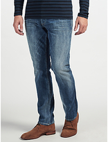 Denham Drill Regular Fit Stretch Jeans, Washed Blue
