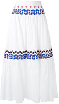 Temperley London embroidered full skirt - women - Cotton - 8