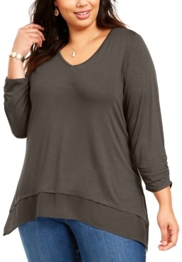 Style&Co. Style & Co Plus Size Layered-Hem Tunic, Created for Macy's