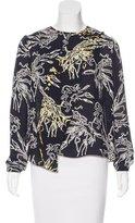 Tanya Taylor Silk Floral Print Top