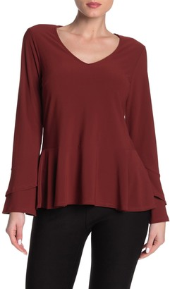 ECI Tiered Sleeve Peplum Shirt
