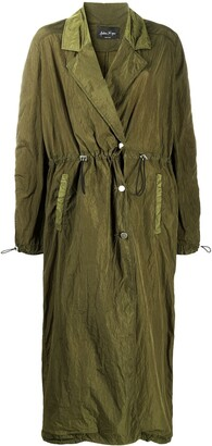 Andrea Ya'aqov Drawstring Long Trench Coat