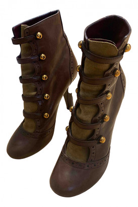 Marc by Marc Jacobs Brown Leather Ankle boots
