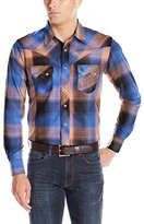 Wrangler Men's Western Long Sleeve Woven Snap Jean Shirt