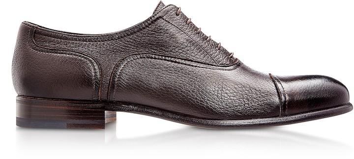 Moreschi Nice Dark Brown Deerskin Oxford Shoes