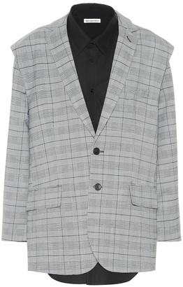 Balenciaga Wool-blend jacket and shirt
