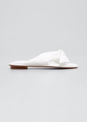 Alexandre Birman Clarita Knotted Napa Flat Sandals