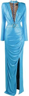 Philipp Plein Rhinestone Evening Dress