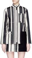 Acne Studios 'Aiylin' zip pocket colourblock panel stripe safari tunic