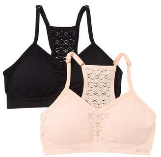 Danskin Lace Trim Bralette - Set of 2