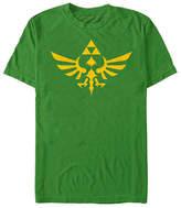Fifth Sun Triforce Hyrule Crest Logo Mens Crew Neck Short Sleeve Zelda Graphic T-Shirt