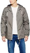 Solid !Solid Men's Jacket - Thang Hooded Long Sleeve Jacket - grey -