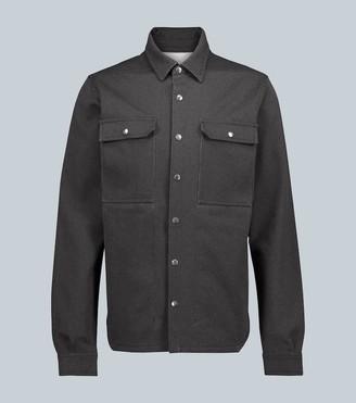 Rick Owens Linen and cotton-blend overshirt