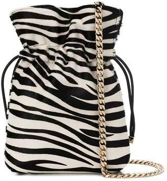 Les Petits Joueurs zebra print chain crossbody bag