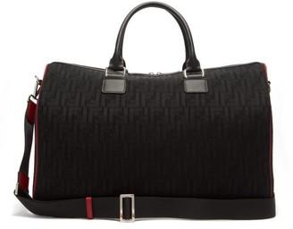 Fendi Leather-trimmed Ff-mesh Holdall - Black