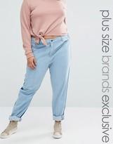 Daisy Street Plus Contrast Front & Back Panels Boyfriend Jeans