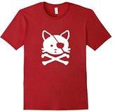 Men's Pirate Cat T-Shirt Small
