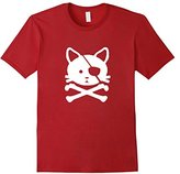 Men's Pirate Cat T-Shirt XL