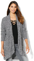New York & Co. Marled-Knit Cocoon Cardigan