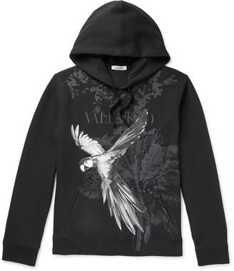 Valentino Printed Cotton-Blend Jersey Hoodie