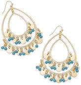 Thalia Sodi Gold-Tone Colored Bead Drop Earrings, Created for Macy's