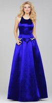 Jovani Pearl Pocket Satin Prom Dress