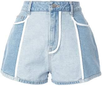 Sjyp white lined denim shorts