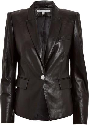 Veronica Beard Danielle Leather Dickey Jacket