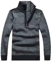 Minibee Men's Turtleneck Sweater Pullovers with Zipper L