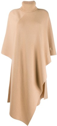 Chloé cashmere roll-neck poncho jumper