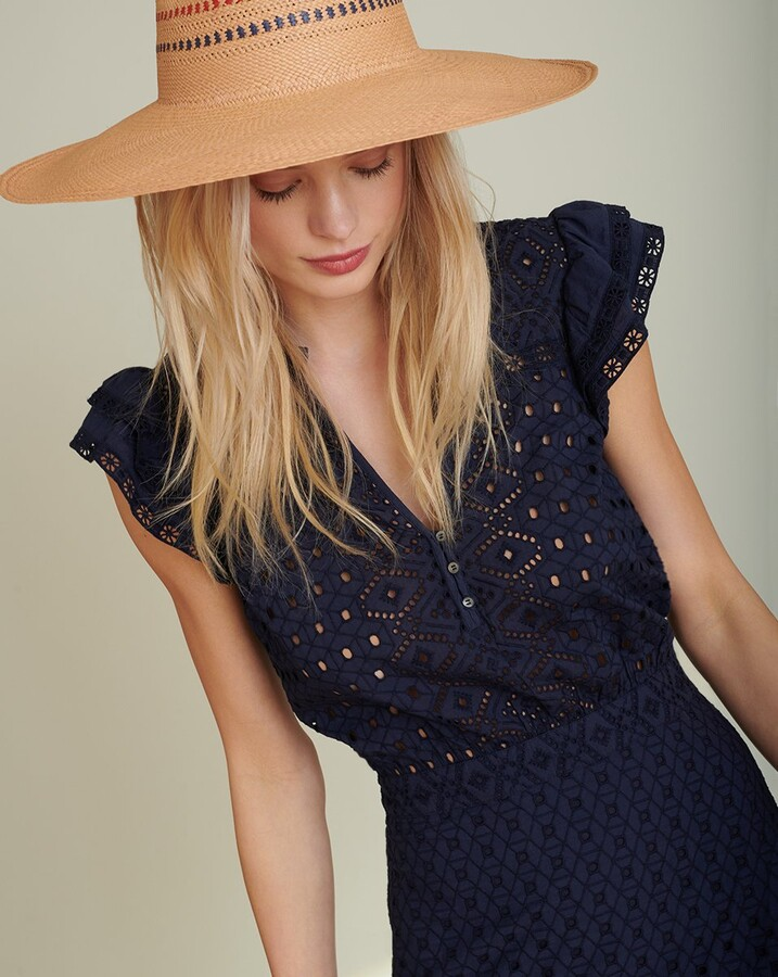 Veronica Beard Satori Eyelet Maxi Dress
