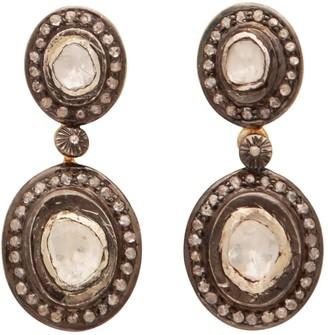 Carousel Jewels Sliced Diamond Drop Heirloom Studs