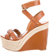 Ralph Lauren Purple Label Filipina Espadrille Wedge Sandals