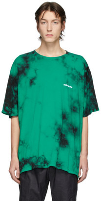 Off-White Green and Black Tie-Dye T-Shirt