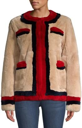 Pologeorgis Boxy Dyed Rabbit Fur Jacket