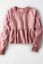 American Eagle Outfitters Don't Ask Why Ruffle Bottom Fleece