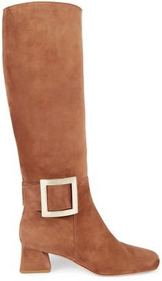 Roger Vivier Tres Vivier Tall Suede Boots
