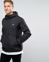 Lacoste Jacket With Hood In Black