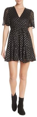 re:named apparel V-Neck Polka Dot Dress