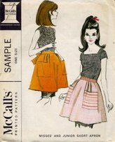 Mccall's Misses and Junior Short Apron Pattern