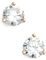 Nordstrom Women's Precious Metal Plated 1Ct Tw Cubic Zirconia Earrings