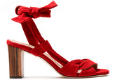 Sclarandis Ravello Ankle Tie Sandal in Red Size 36.5 Leather