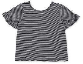 Soprano Girl's Striped Futter-Sleeve Top
