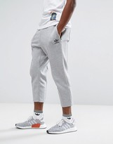 adidas Chicago Pack Cropped Pintuck Jogger In Grey Bk0555