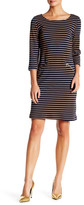 Chetta B Long Sleeve Stripe Midi Dress
