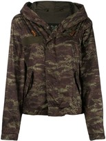 Mr & Mrs Italy camouflage print hooded jacket