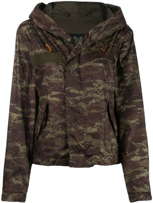 Mr & Mrs Italy Camouflage Print Hooded Jacket