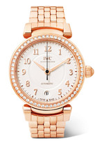 IWC SCHAFFHAUSEN - Da Vinci Automatic 36 18-karat Red Gold Diamond Watch - Rose gold