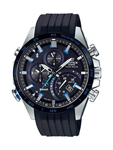 Casio Men's 'Edifice' Quartz Stainless Steel and Rubber Watch