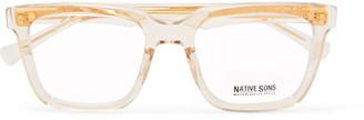 Native Sons Kent Square-Frame Acetate Optical Glasses